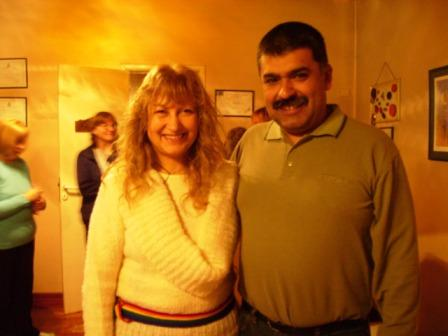 Mabel Corias junto a Osvaldo Espínola